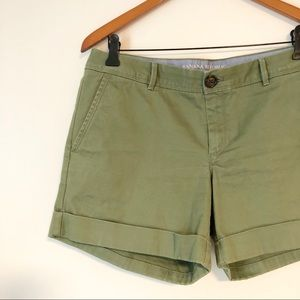 Olive Green City Fit Chino Shorts